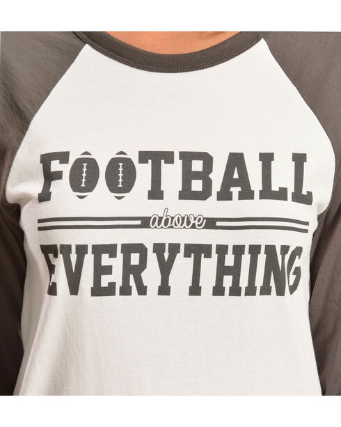 ATX Mafia Football Above Everything Baseball Tee, Grey, hi-res