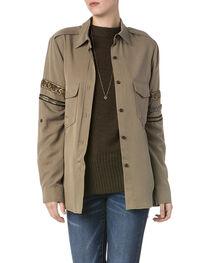 Miss Me Women's Beaded Military Jacket, , hi-res