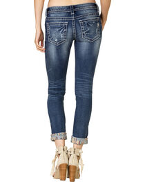 Miss Me Women's Embroidered Rolled Cuff Skinny Jeans, , hi-res