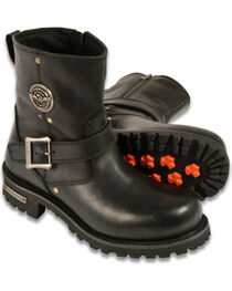 """Milwaukee Leather Men's 6"""" Classic Engineer Boots - Round Toe - Wide, , hi-res"""