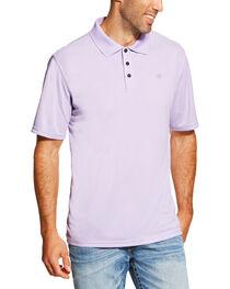 Ariat Men's Lavender Seychelles Heat Series Tek Polo Shirt , , hi-res