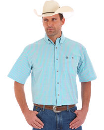 Wrangler Men's George Strait Plaid Short Sleeve Shirt, , hi-res