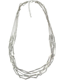 Montana Silversmiths Women's Silver Six Bar Strand Necklace , , hi-res