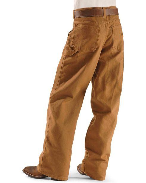 Carhartt Boy's Duck Dungaree Pants, Brown, hi-res
