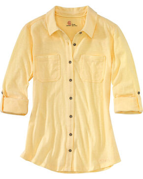 Carhartt Women's Yellow Medina Shirt , Yellow, hi-res