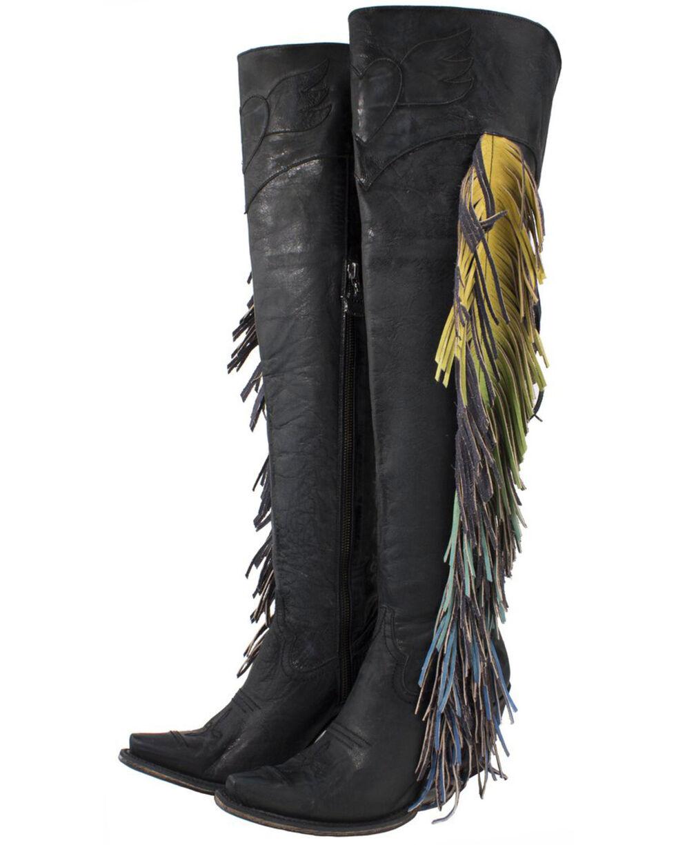 Junk Gypsy by Lane Women's Spirit Animal Tall Boots - Snip Toe , Black, hi-res