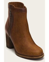 Frye Women's Addie Cognac Double Zip Boots - Round Toe , , hi-res