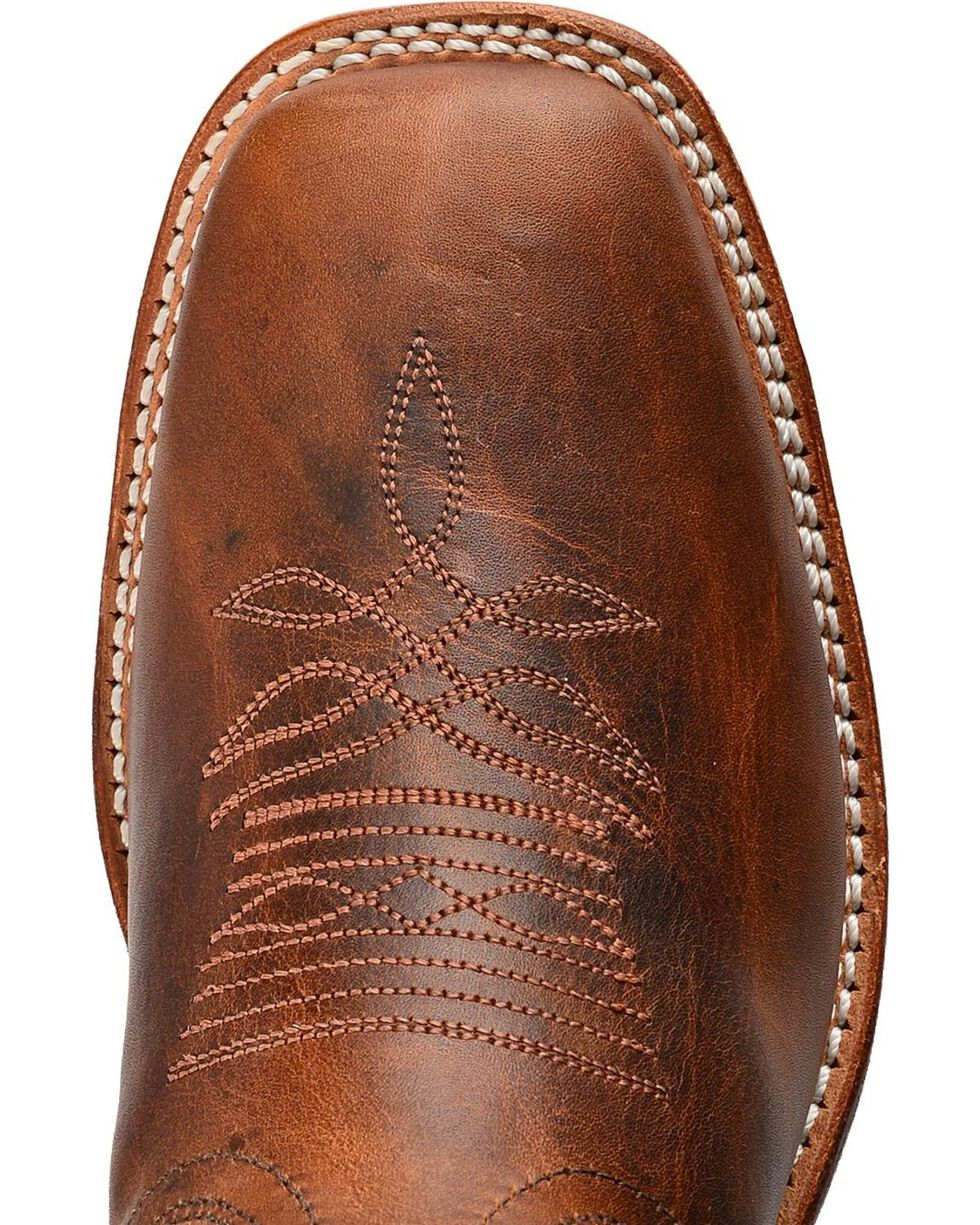 Boulet Damiana Cowgirl Boots - Square Toe, Brown, hi-res