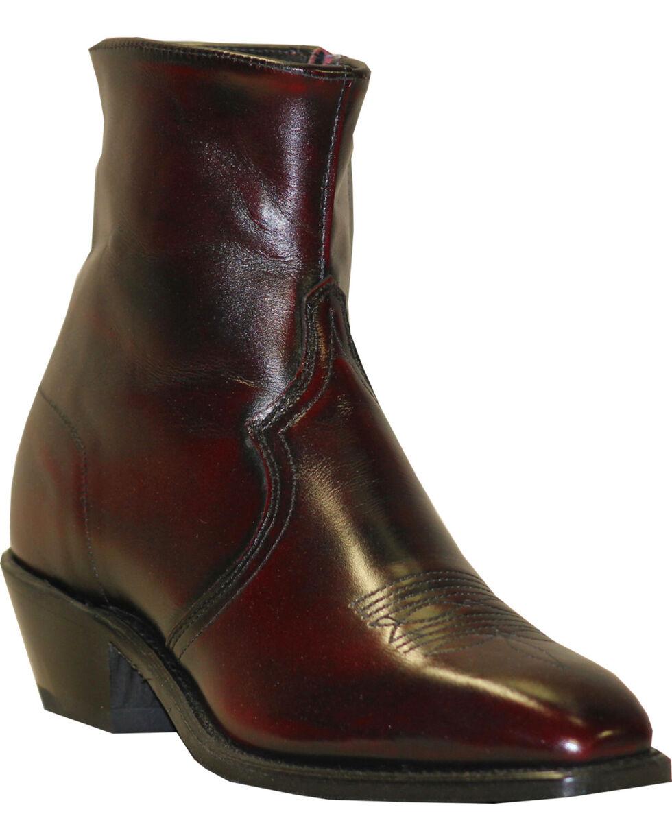 """Abilene Men's 7"""" Western Zip Boots, Black Cherry, hi-res"""