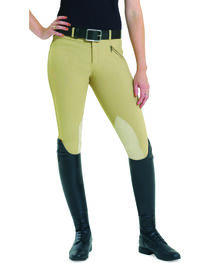 EquiStar Women's EquiTuff Knee Patch Breeches, , hi-res