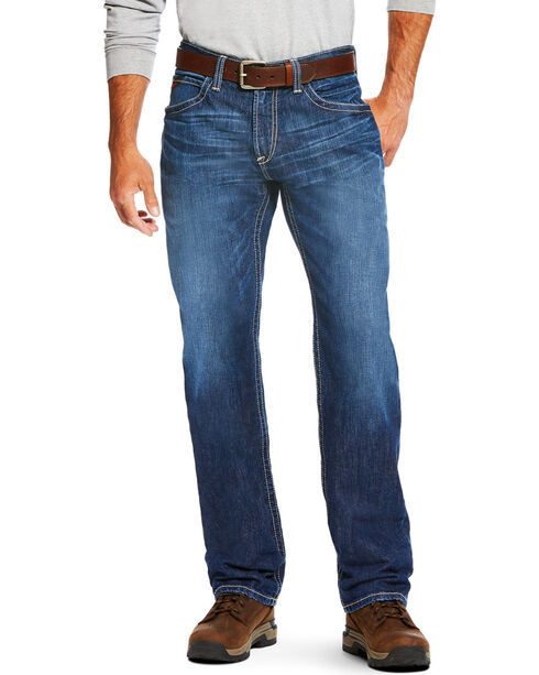 Ariat Men's FR M3 Vortex Loose Fit Jeans - Straight Leg, Charcoal, hi-res
