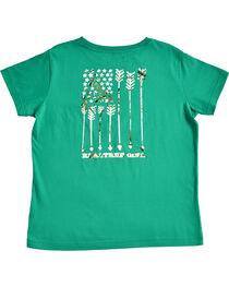 Realtree Women's Green Snow Flag T-Shirt , , hi-res