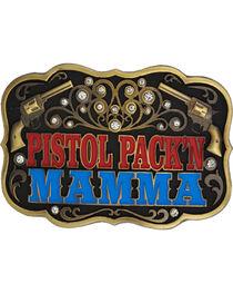 Montana Silversmiths Pistol Pack'n Mamma Belt Buckle, , hi-res