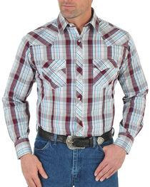 Wrangler Men's Plaid Western Long Sleeve Shirt, , hi-res