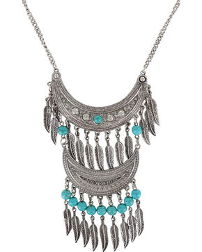 Shyanne® Women's Double Fringe Necklace , Silver, hi-res