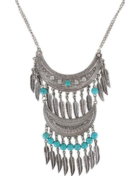 Shyanne® Women's Double Fringe Necklace , Silver, hi-res