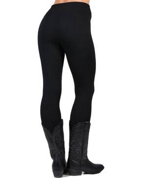 One 5 One Women's Cozy Fleece Lined Leggings, Black, hi-res