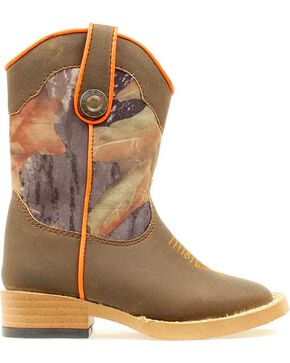 Double Barrel Toddler Boys' Buckshot Side Zipper Cowboy Boots - Square Toe, Camouflage, hi-res