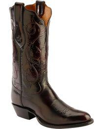 Tony Lama Signature Series Black Cherry Brushed Goat Cowboy Boots - Round Toe, , hi-res