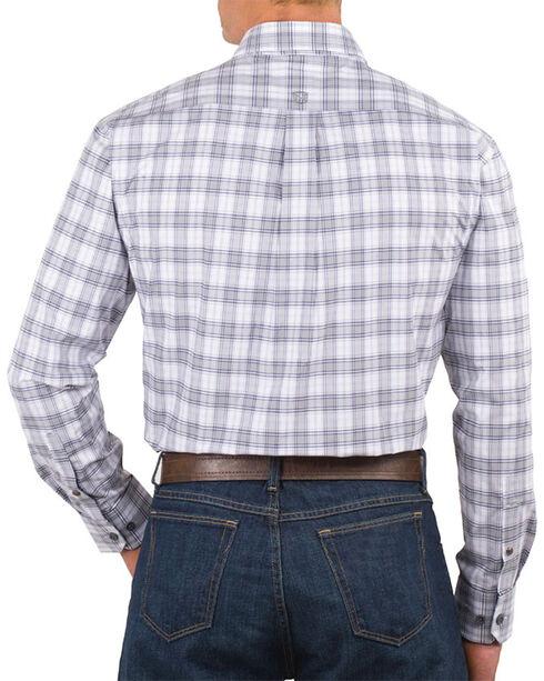 Noble Rider Men's Generation Plaid Long Sleeve Shirt, Grey, hi-res
