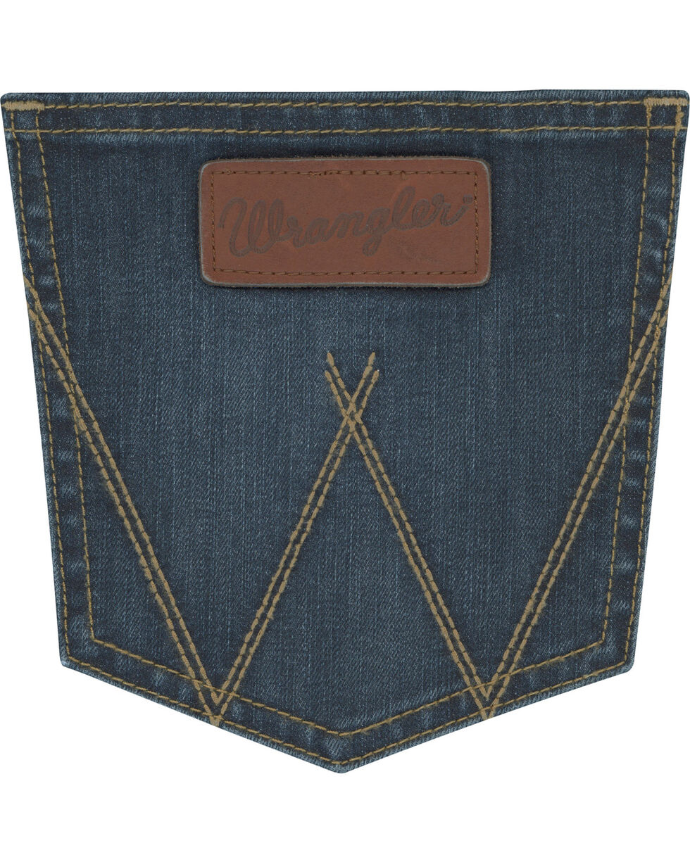 Wrangler Men's Blue Retro Stretch Denim Jeans - Skinny , Blue, hi-res