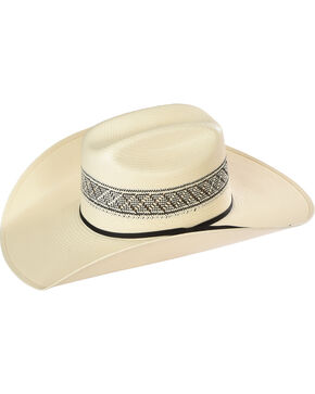 Resistol Men's Border Patterned Straw Hat, Natural, hi-res