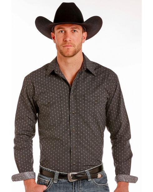 Rough Stock by Panhandle Men's Black Travis Vintage Shirt , Black, hi-res