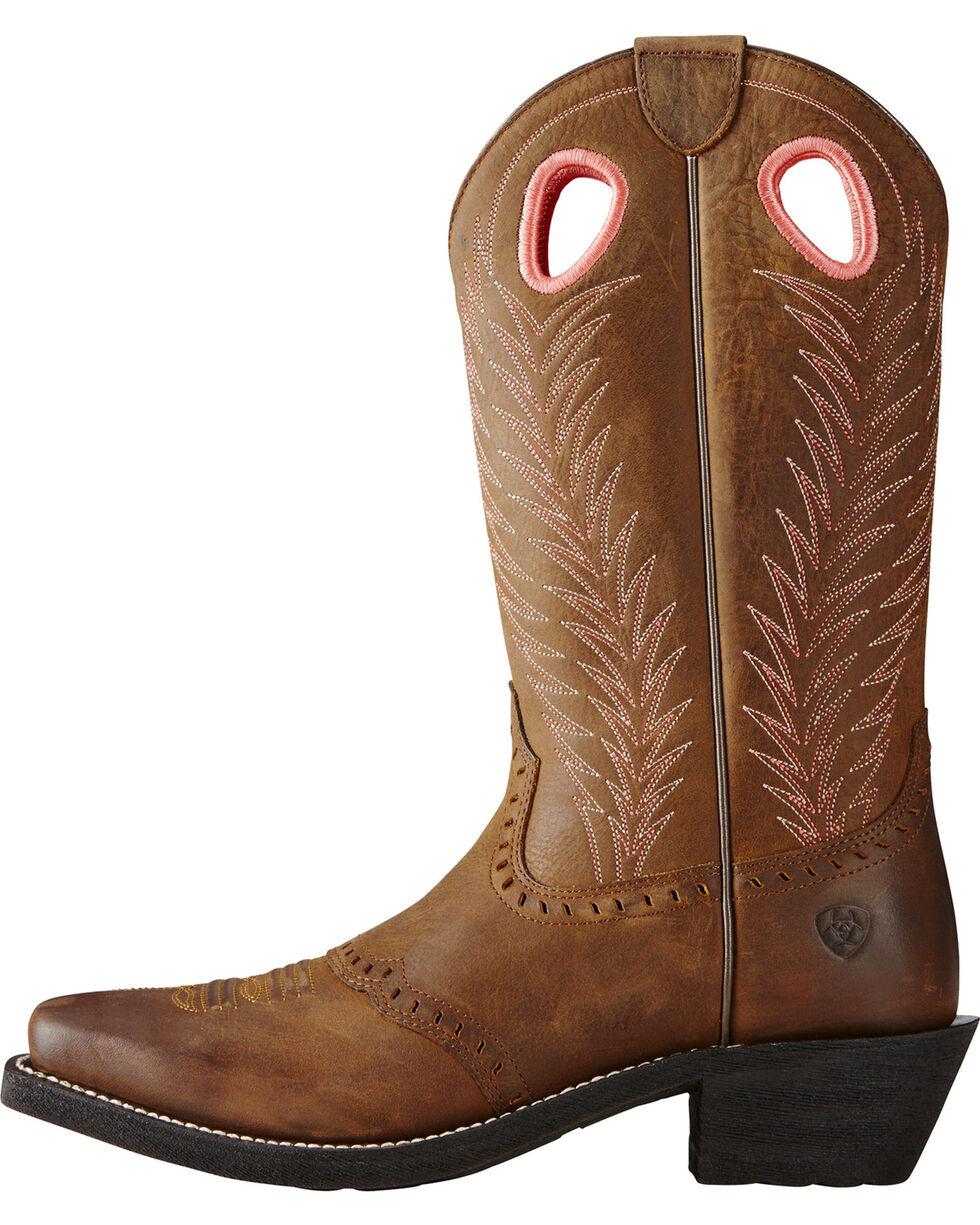 Ariat Women's Heritage Rancher Work Boots, Brown, hi-res