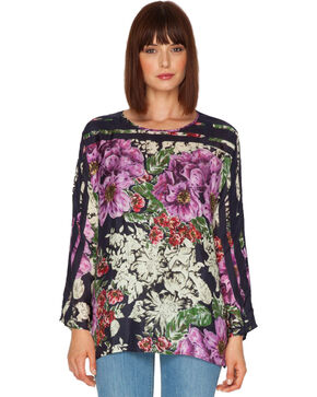 Johnny Was Women's Flower Dolman Blouse, Print, hi-res
