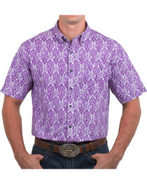 Noble Outfitters' Men's Feather Patterned Short Sleeve Shirt, , hi-res