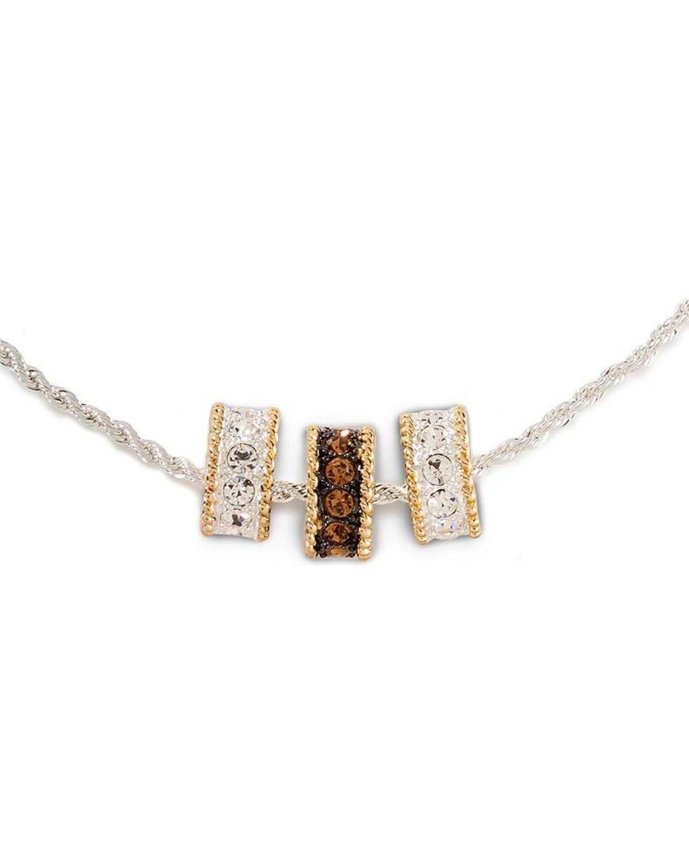 Montana Silversmiths Women's Triple Ring Necklace, Silver, hi-res