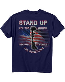 Buck Wear Men's Navy Stand Up Tee , Navy, hi-res