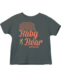 Browning Toddler Girls' Charcoal Grey Baby Bear Short Sleeve Tee , , hi-res