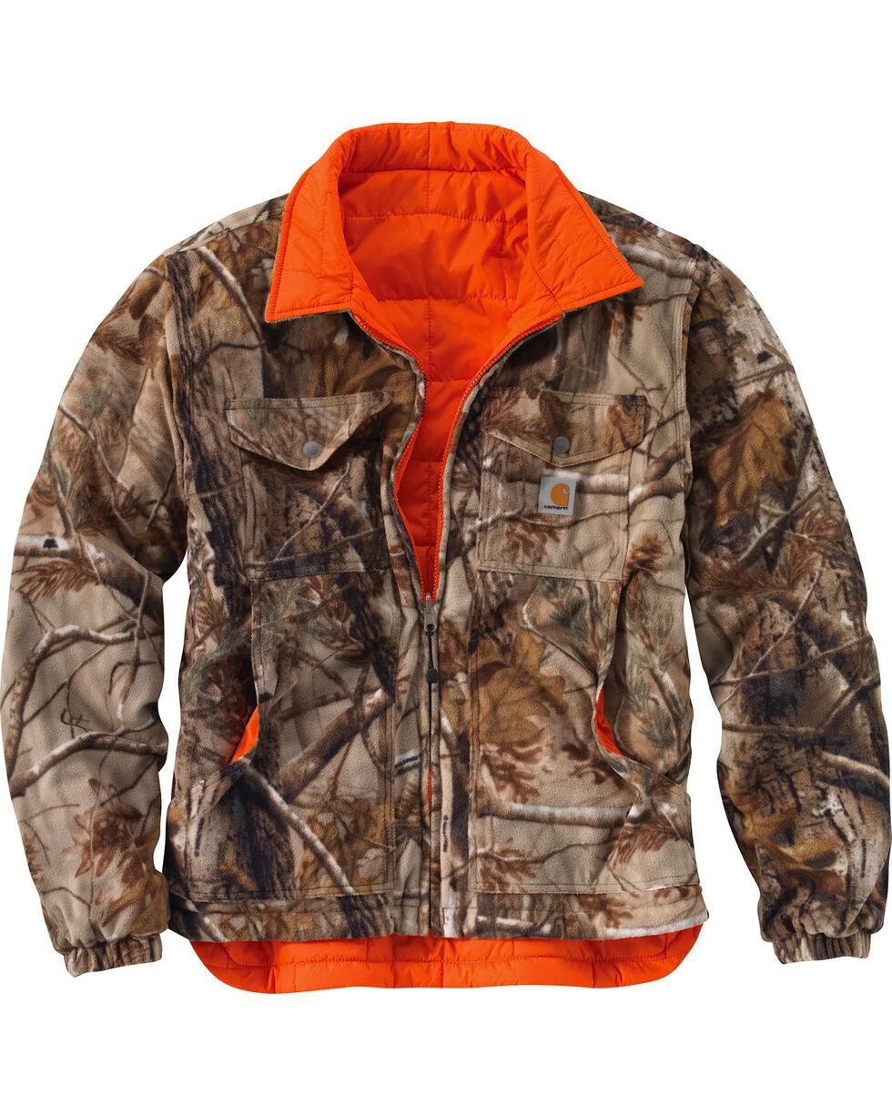 Carhartt Men's Reversible Woodsville Jacket - Big & Tall  , Orange, hi-res