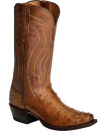 Lucchese Handcrafted 1883 Full Quill Ostrich Western Boots - Square Toe, , hi-res