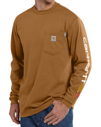 Carhartt Men's Flame Resistant Long Sleeve T-Shirt, , hi-res