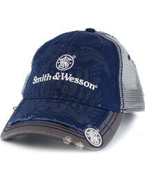 Smith & Wesson Men's Distressed Logo Ball Cap, , hi-res