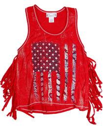 Shyanne Toddler Girls' Americana Fringe Tank , , hi-res
