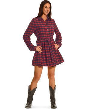 Shyanne Women's Plaid Flannel Dress, Am Spirit, hi-res