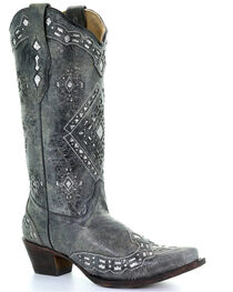Corral Women's Glitter Inlay Western Boots, , hi-res
