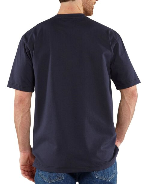 Carhartt Flame Resistant Henley Work Shirt - Big & Tall, Navy, hi-res