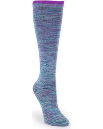 La De Da Women's Knee High Socks, Blue, hi-res