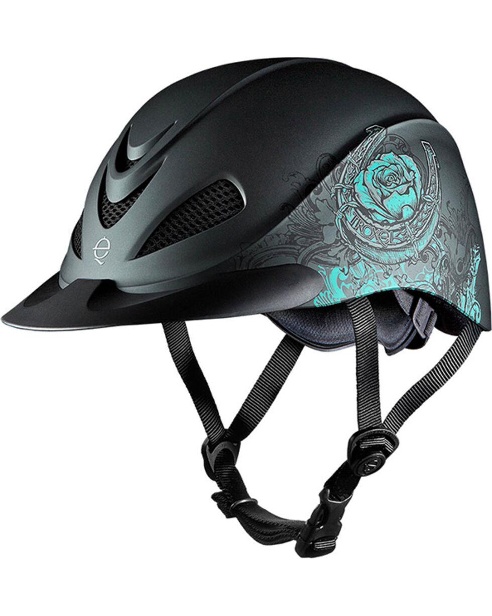 Troxel Women's Turquoise Rebel Rose Riding Helmet , Turquoise, hi-res