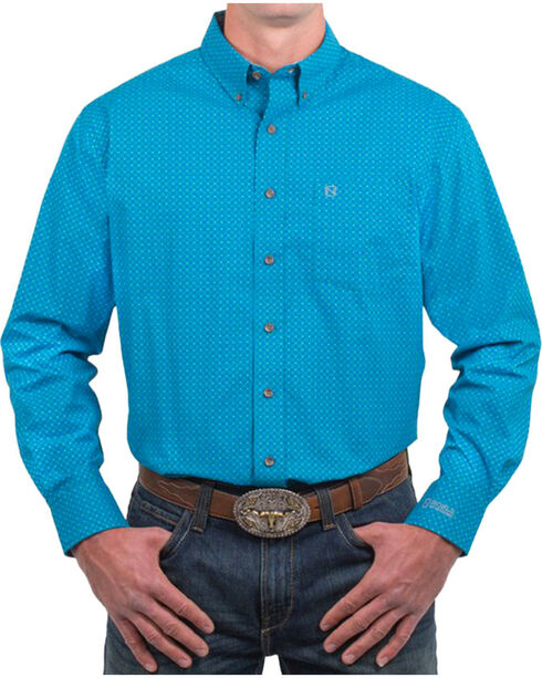 Noble Outfitters Men's Seaport Long Sleeve Shirt, Turquoise, hi-res