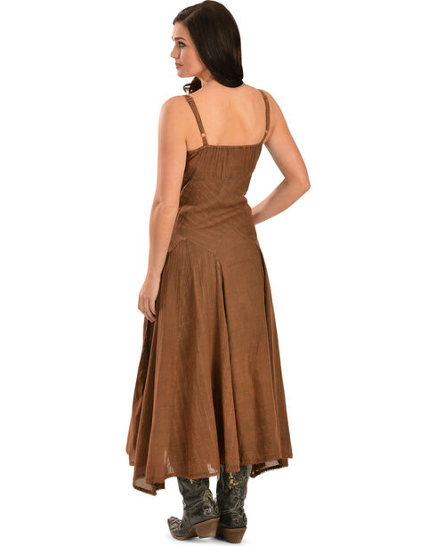 Scully Women's Long Spaghetti Strap Dress, Copper, hi-res