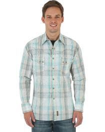 Wrangler Retro Men's Khaki Overprint Western Shirt , , hi-res