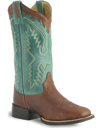 Old West Thunder Oil Cowgirl Boot - Wide Square Toe, , hi-res
