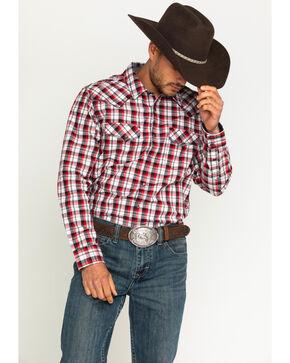 Cody James® Men's Firewater Plaid Long Sleeve Shirt, Black, hi-res