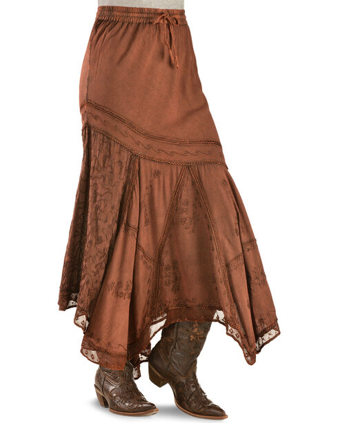 Scully Women's Country Maxi Skirt, Rust Copper, hi-res