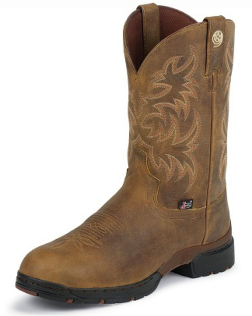Justin Men's Waterproof Western Boots, Tan, hi-res